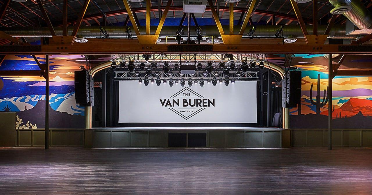 View of the interior of The Van Buren after buying tickets