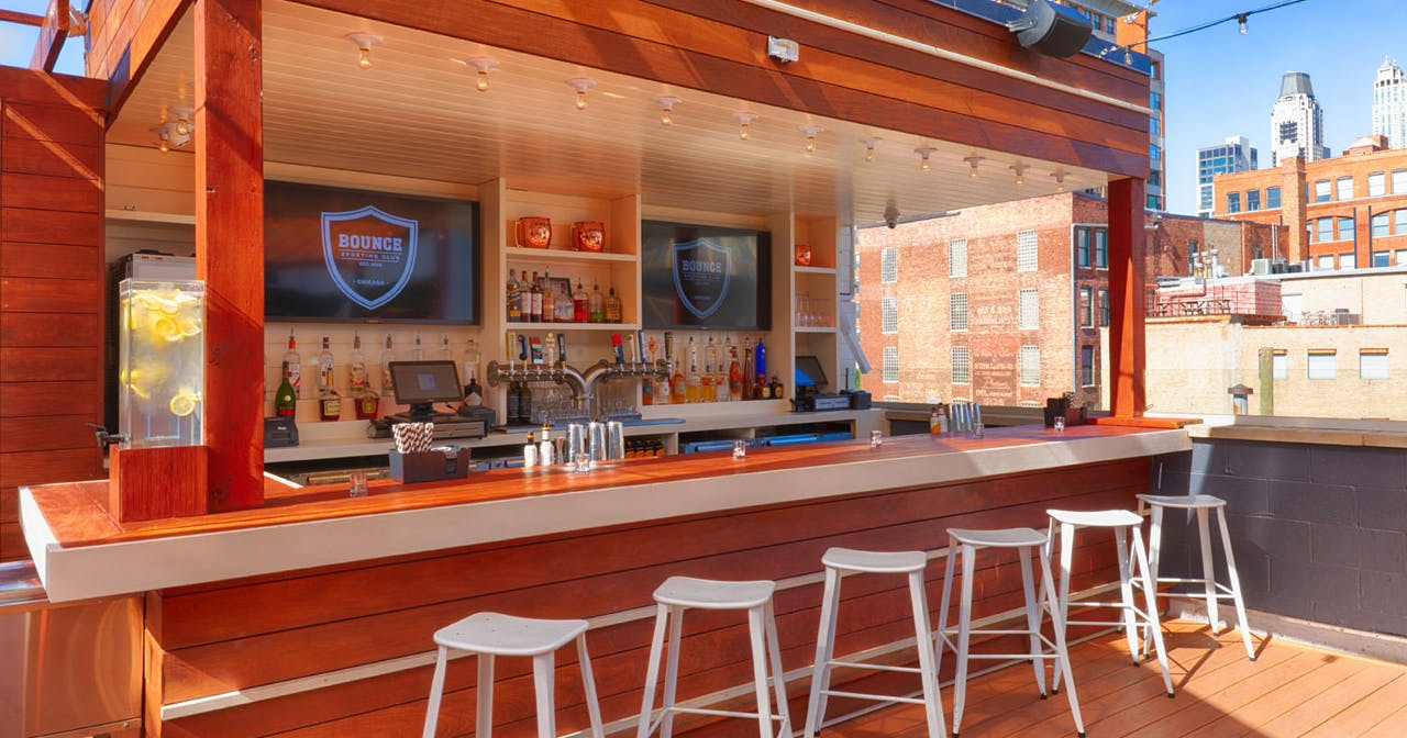 Inside look of Bounce Sporting Club (Rooftop) with bottle service