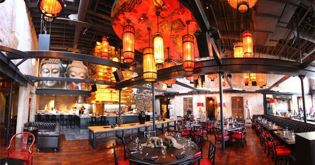 View of the interior of Red Lantern after buying tickets