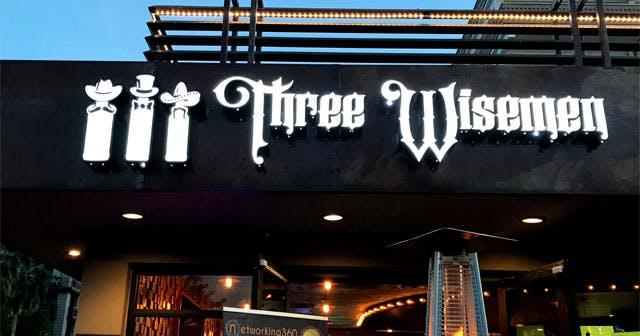 Inside look of Three Wisemen with bottle service