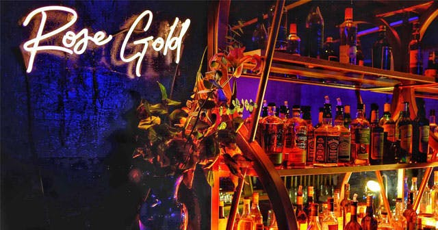 Inside look of Rose Gold with bottle service