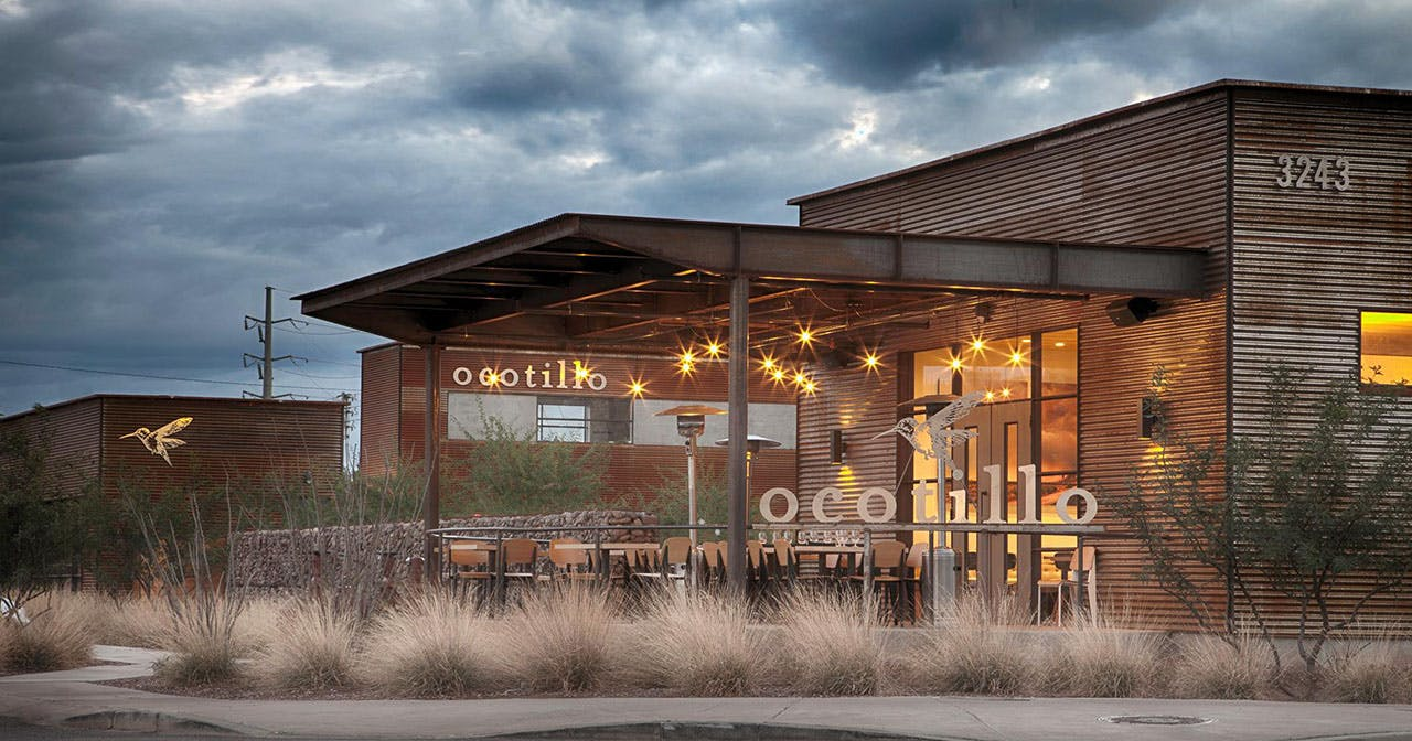 Inside look of Ocotillo with bottle service