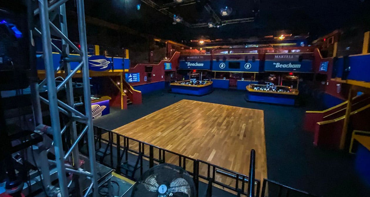 Inside look of The Beacham with bottle service