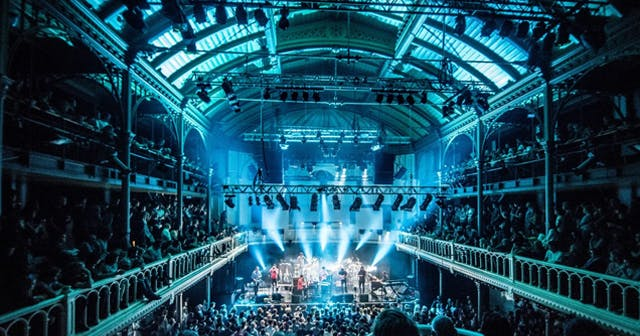 View of the interior of Paradiso after buying tickets