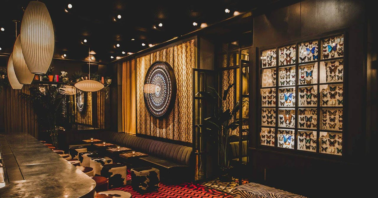 View of the interior of Butterfly Soho after getting free guest list