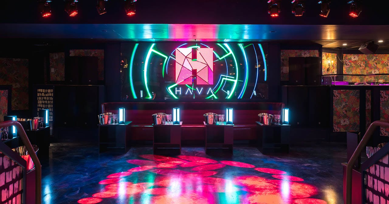 View of the interior of Hava after getting free guest list