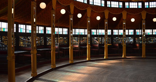 View of the interior of Avant Gardner (Lost Circus) after getting free guest list