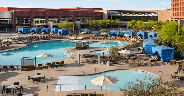 Inside look of Release Pool at Talking Stick after getting free guest list