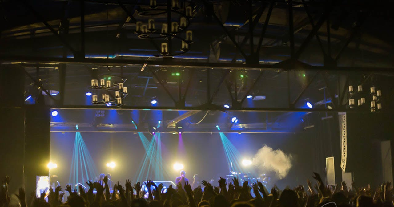 Inside look of Warehouse Live with bottle service