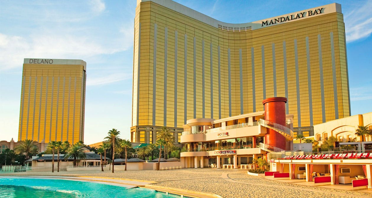 Inside look of Mandalay Bay Beach with bottle service