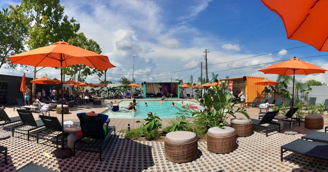 Inside look of El Segundo Swim Club after buying tickets