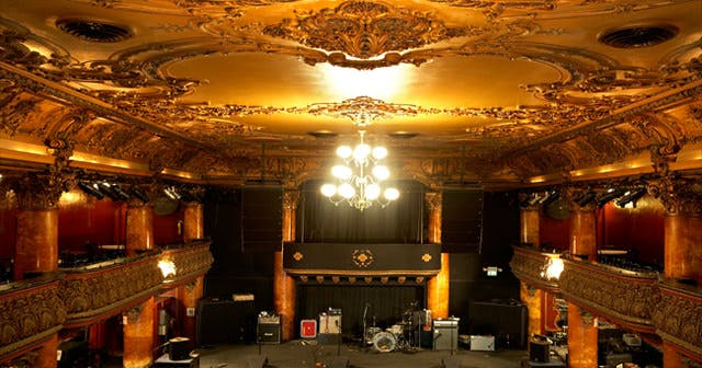 View of the interior of Great American Music Hall after buying tickets