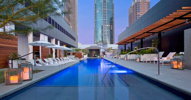 Inside look of Wet Deck at the W after buying tickets