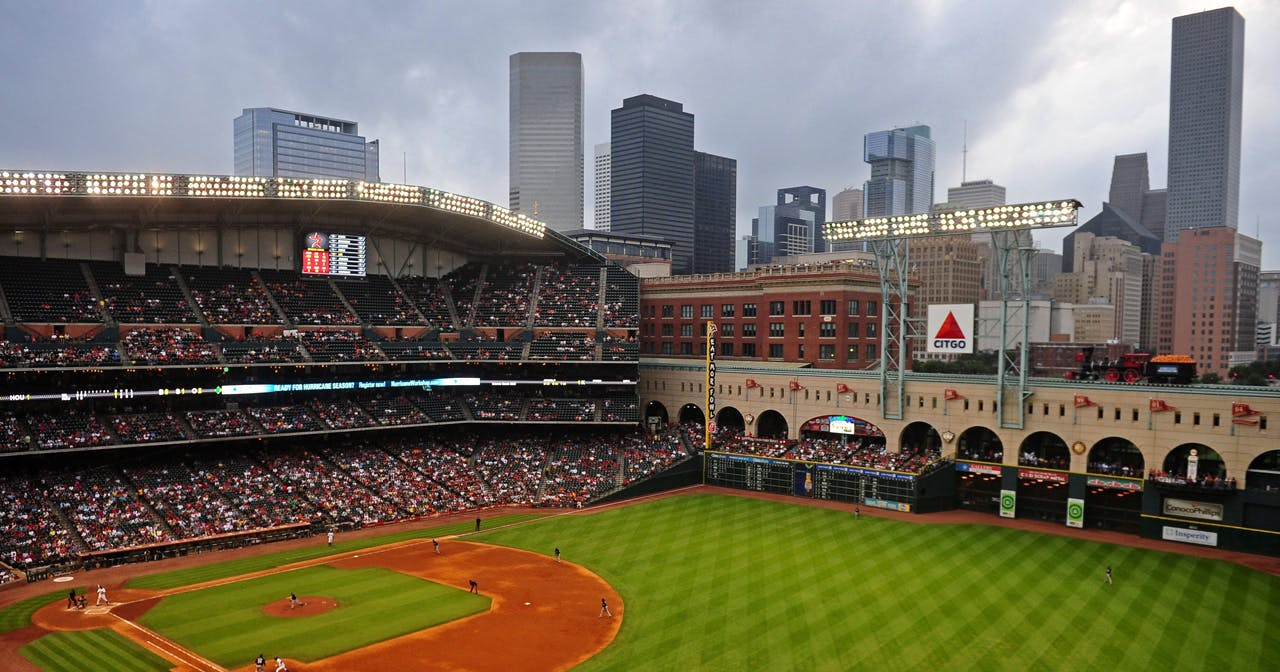 Inside look of Minute Maid Park after buying tickets