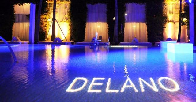Delano Beach Club at Night