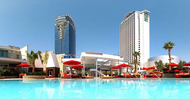 Inside look of Palms Pool with bottle service